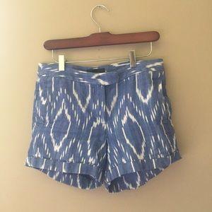 J. Crew washed cotton IKAT printed shorts